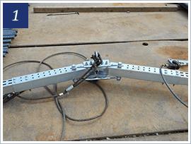 吊り治具とスネークチェーンの組立