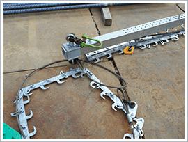吊り治具とスネークチェーンの組立1